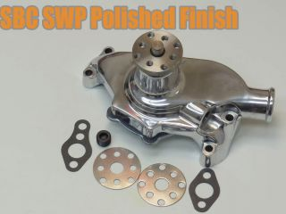100% New Brand SBC Chevy Polished Aluminum Short Water Pump