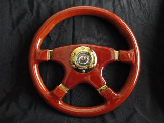 New 14 Designo 4 Spoke Wood Grain Steering Wheel