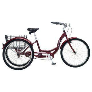Scratch Dent Red Schwinn Meridian 26 Adult Tricycle