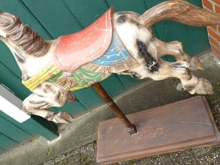 Antique Wooden Carousel Horse Riding Rocking Horse Fairground RARE