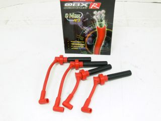 OBX Racing Red Spark Plug Wires 95 05 Dodge Neon 2 0L SOHC 420A