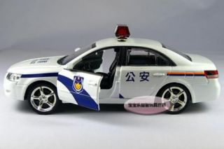 New Hyundai Police Car 1 32 Alloy Diecast Model Car with Sound Light