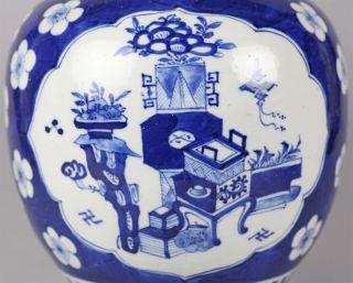 Antique Chinese Blue White Ginger Jar Kangxi 1662 1722