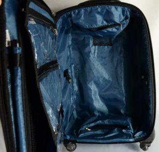 Joy Mangano Clothes It All Garment Bag 23 Luggage Suitcase Blue Croco