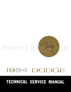 Dodge Repair Shop Service Manual for Dart GT Polara 330 440 500 64 Car