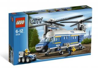 Lego City Police Officer Heavy Lift Helicopter 4439