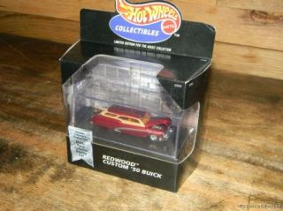 Hot Wheels Mattel Collectibles 1950 Buick Redwood Display Case Multi