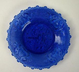 Early American lacy Flint Glass Blue Cup Plate Rare Boston & Sandwich