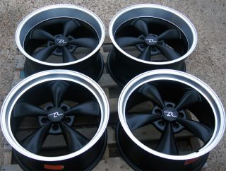 Matte Black Mustang Bullitt Wheels 18x9 18x10 1994 04 18 Deep Dish 18
