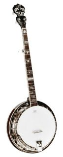 Morgan Monroe MB NK100 Deluxe Nickel Banjo w Case