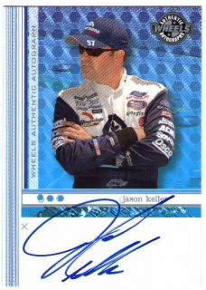 Jason Keller 2003 Wheels Autograph Signed Card Auto NASCAR