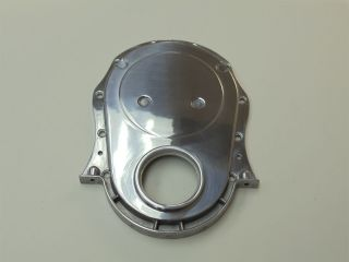 BBC Chevy Polished Aluminum Timing Chain Cover 396 427 454 502