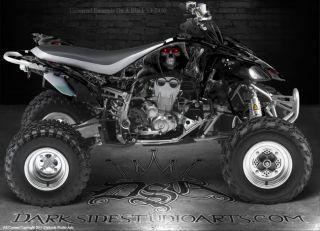 Yamaha YFZ450 450 ATV Graphics Inevitable Death Black Model Reaper