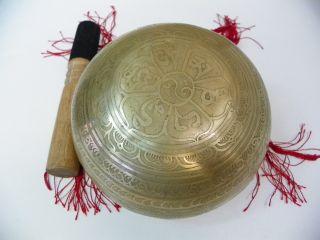 eautifully hand hammered Tibetan singing bowl, very nice, solid