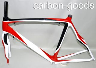 RB004 Carbon Frame Road Bike Bicycle Frameset Red White Painting