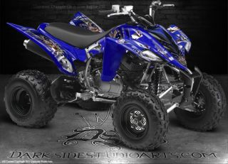Yamaha Raptor 350 ATV Graphics The Jesters Grin White Model