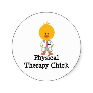 Physical Therapy Chick Stickers