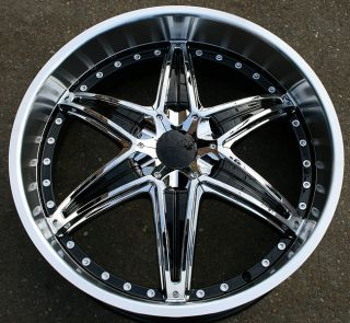 RVM 445 22 Black Rims Wheels Stratus Concorde Liberty