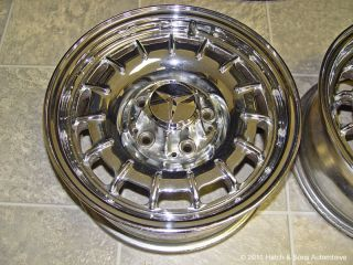 Mercedes Benz Chrome Wheels Rims 6 5 x 14 Factory ET30 6 1 2 380 450