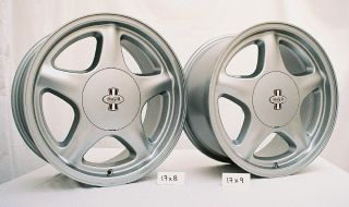 1979 93 Mustang 17 Pony R Wheels Argent 17x8 Front 17x9 Rear w Nitto