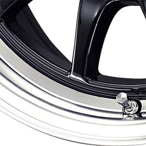 New 15X7 4 100 Drag Dr16 Gloss Black Machined Wheels/Rims