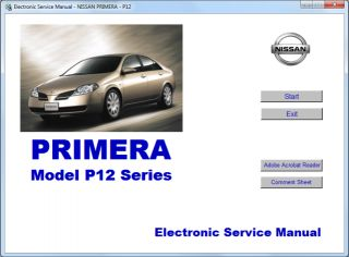 Nissan Primera P11 P12 Workshop Service Repair Manual Engine Body Disc