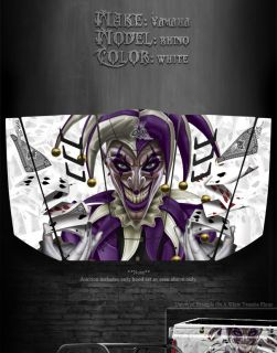 Yamaha Rhino Hood Graphics Kit The Jesters Grin Joker White Model 90
