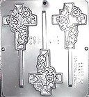 NEW 3 Cavity CELTIC CROSS Chocolate Candy Clay Plaster Fondant