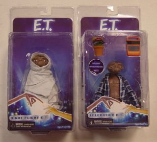 2012 NECA E T Set of 2 Action Figures Night Flight and Telepathic MISP