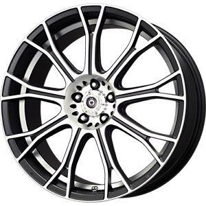 New 16X7 4 100 Konig Swurve Matt Black Mach Undercut Wheels/Rims