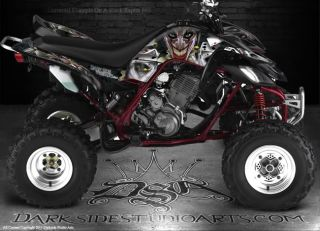 Yamaha Raptor 660 ATV Graphics The Jesters Grin White Model