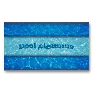 Pool cleaning business card