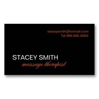 MASSAGE THERAPIST (RMT) BUSINESS CARD