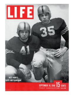 West Point Football Players Glenn Davis and Felix Blanchard, September