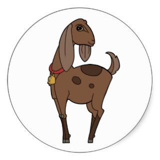 Cute Nubian Dairy Goat Stickers