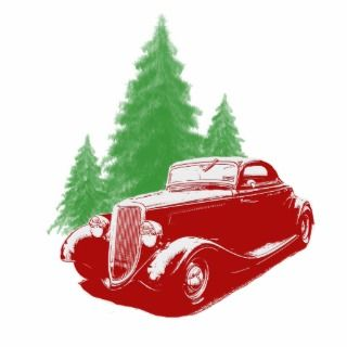 Hot Rod Christmas Ornament Photo Cut Outs