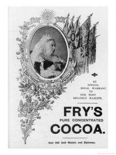 An Advertisement for Frys Cocoa to Celebrate Queen Victorias Diamond Jubilee Giclee Print by Oswald Fitch