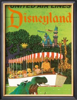 United Airlines: Disneyland in Anaheim, California, c.1960s Framed Giclee Print
