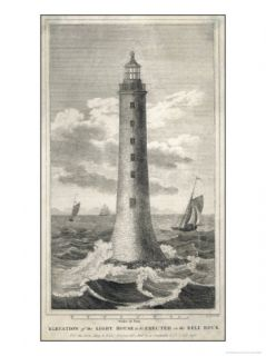 Proposed Elevation of Bell Rock Lighthouse with Scale Giclee Print by B. Scott