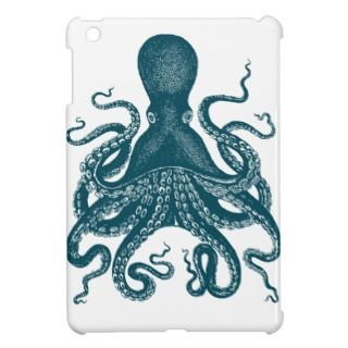 Blue Steampunk Kraken Octopus ipad mini case