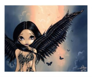 Black Winged Angel (Gothic Angel Fairy) Giclee Print by Jasmine Becket Griffith