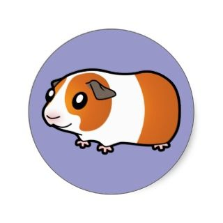 Cartoon Guinea Pig (red dutch) stickers by SugarVsSpice