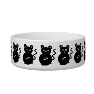 Cute Mischievous Mouse Funny Cartoon Creature Cat Bowl