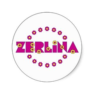 Zerlina de Flores Rosa Stickers