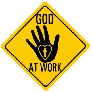 GOD AT WORK. HEALING HAND LOVE HEART CROSS JESUS ACRYLIC CUT OUTS