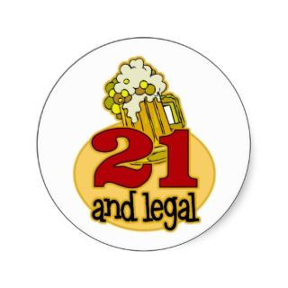 Funny 21st Birthday Gift Sticker