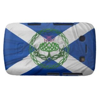 Celtic Knot Thistle And Flag Blackberry Bold Covers