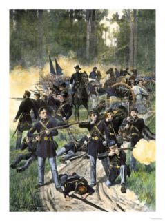 Union Troops Engaged at Gaines Mill, Virginia, June 27, 1862, American Civil War Giclee Print