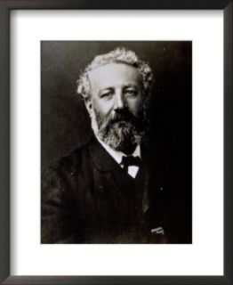 Half Length Portrait of the Famous French Novelist Jules Verne Pre made Frame