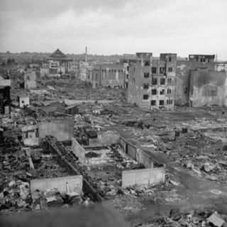 Scorched Ruins of Tokyo, a Result of Massive Allied Air Raid Attacks During the War Photographic Print by Bernard Hoffman